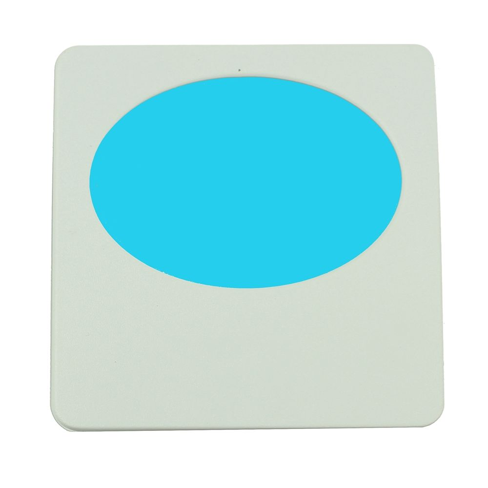 Limelite, Blue Oval, Night Light, Off- White Face Plate, 2.75W x 2.75H