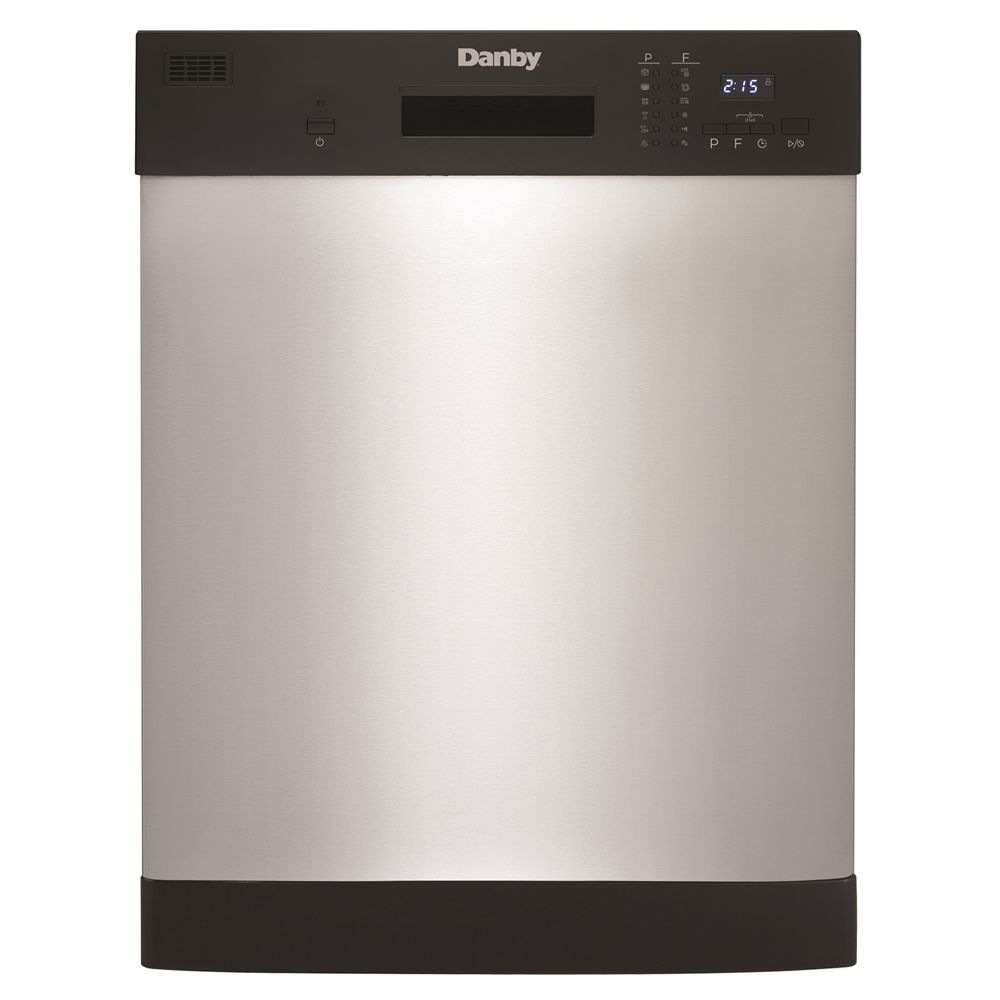 "Danby 24"" Built-In Dishwasher, Black and Stainless Steel Front"