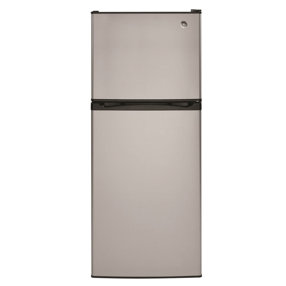 GE® Top-Freezer Refrigerator, 11.6 Cu Ft, Energy Star Rated, Stainless Steel Door