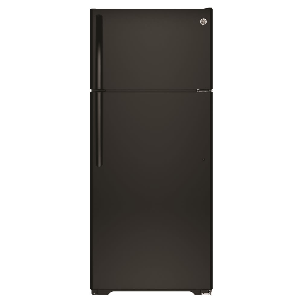 GE® Top-Freezer Refrigerator, 17.5 Cu Ft, Black