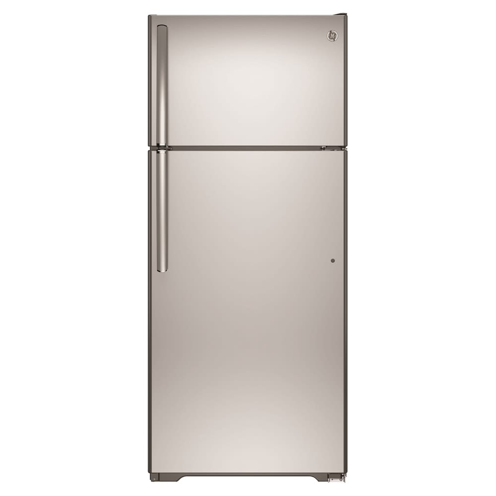 GE® Top-Freezer Refrigerator, 17.5 Cu Ft, Energy Star Rated, Stainless Steel Door