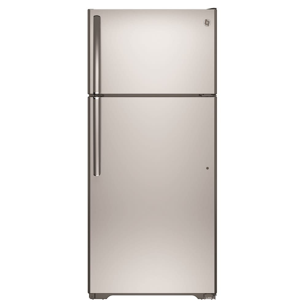 GE® Top-Freezer Refrigerator, 15.5 Cu Ft, Energy Star Rated, Stainless Steel