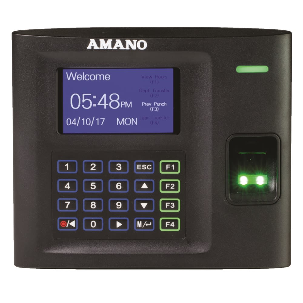 Amano Employee Biometric Time System, Reduces Payroll Management