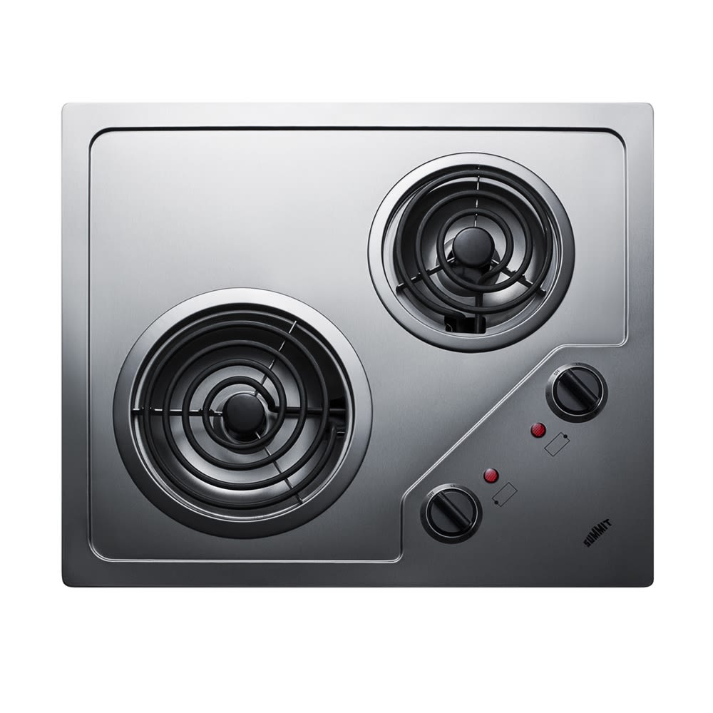"Summit 21"" Burner Coil Cooktop, Stainless Steel"