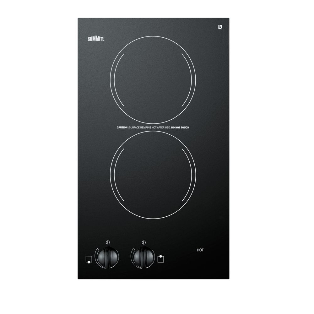 "Summit 12"" Radiant Cooktop, Black"