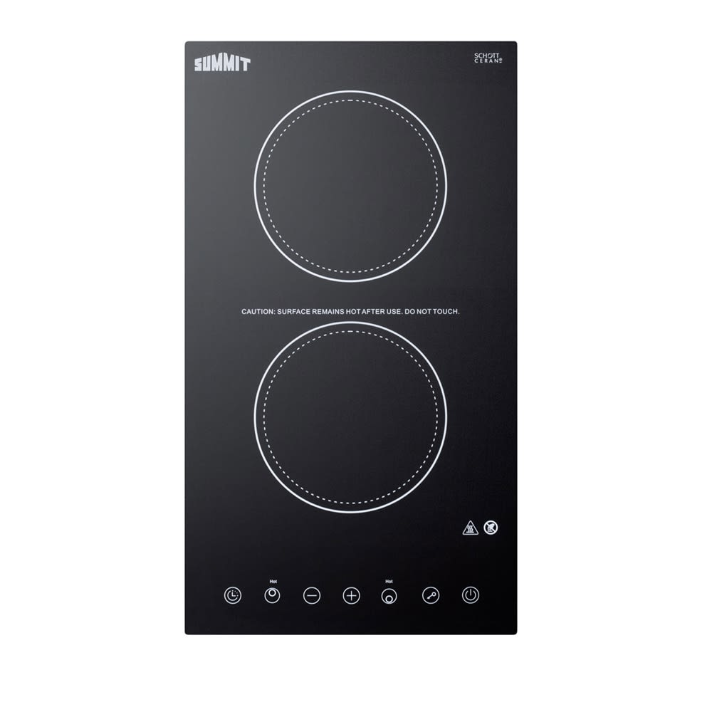 "Summit 12"" Electric Cooktop, Black"