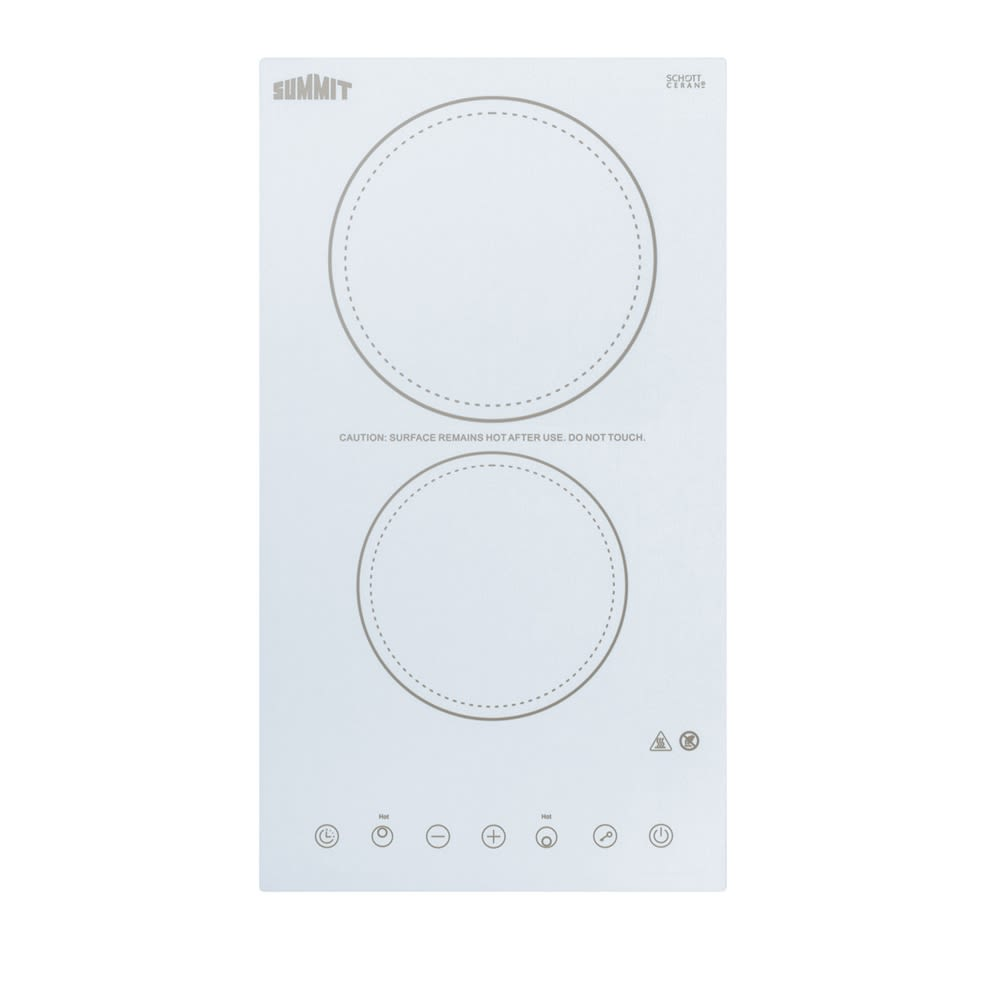 "Summit 12"" Electric Cooktop, Ceramic White"
