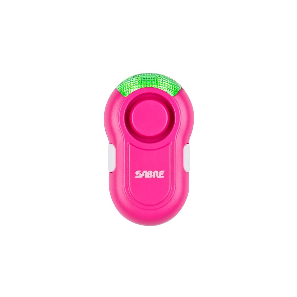SABRE Personal Alarm Clip,Features LED Light, 120 dB, Pink
