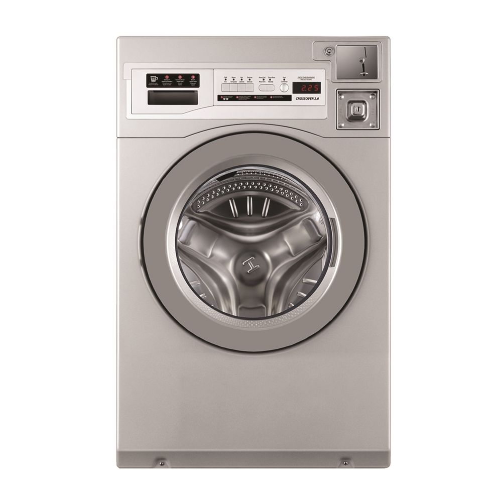 Crossover® Wascomat Front Load Commercial Washer Coin or Non-Coin 3.5 Cu Ft, Energy Star, ADA, Gray