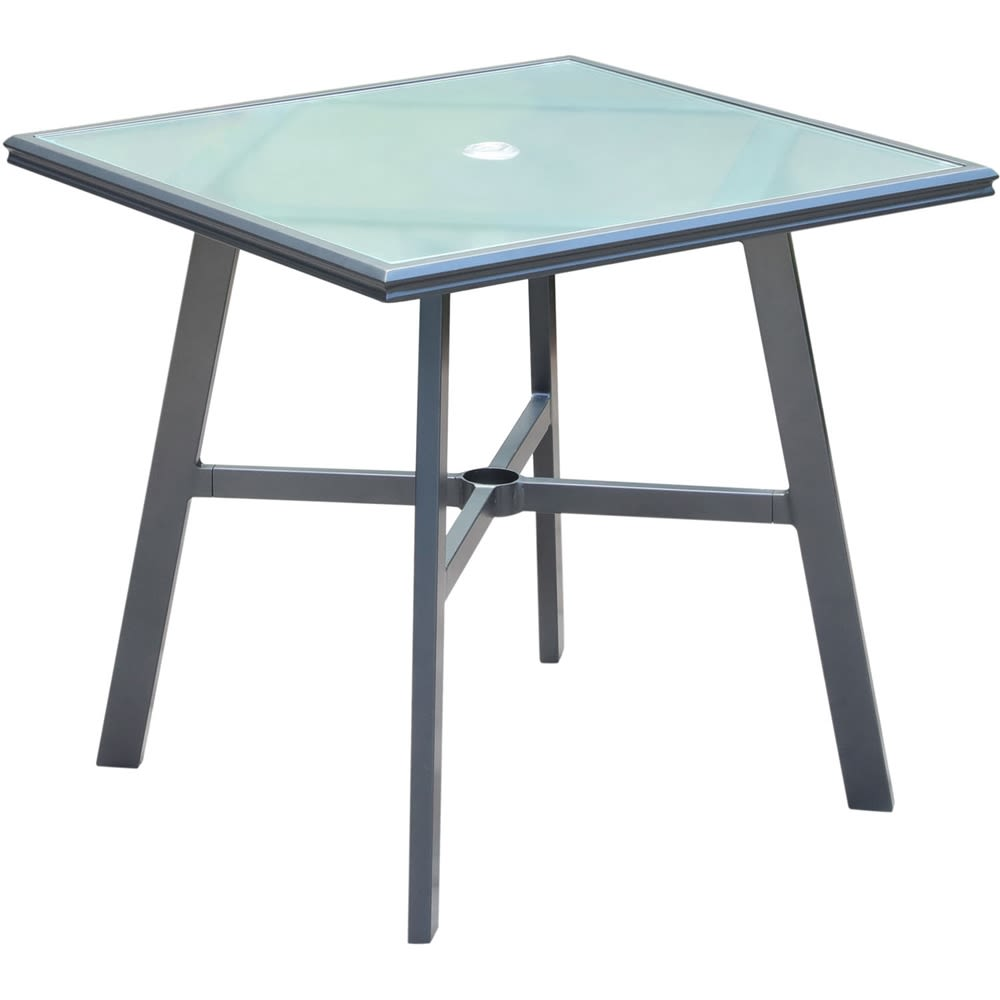 "Cape Soleil, 30"" Square Glass Top Dining Table"