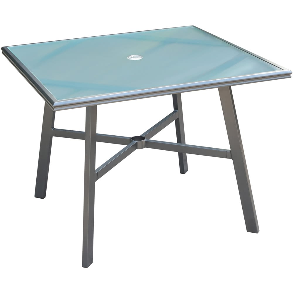 "Cape Soleil, 38"" Square Glass Top Dining Table"