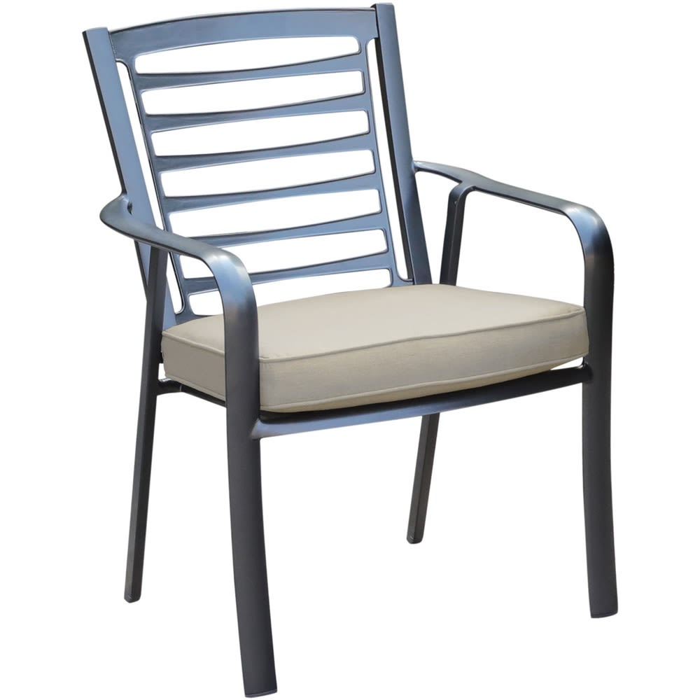 Cape Soleil, Edgemont Aluminum Cast Dining Chair With Sunbrella Cushion