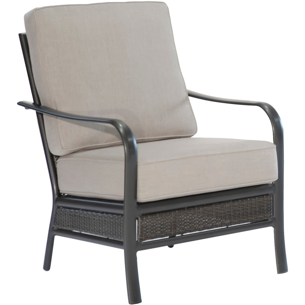 Cape Soleil, Wendle Woven Commercial Aluminum Club Chair With Sunbrella Cushion