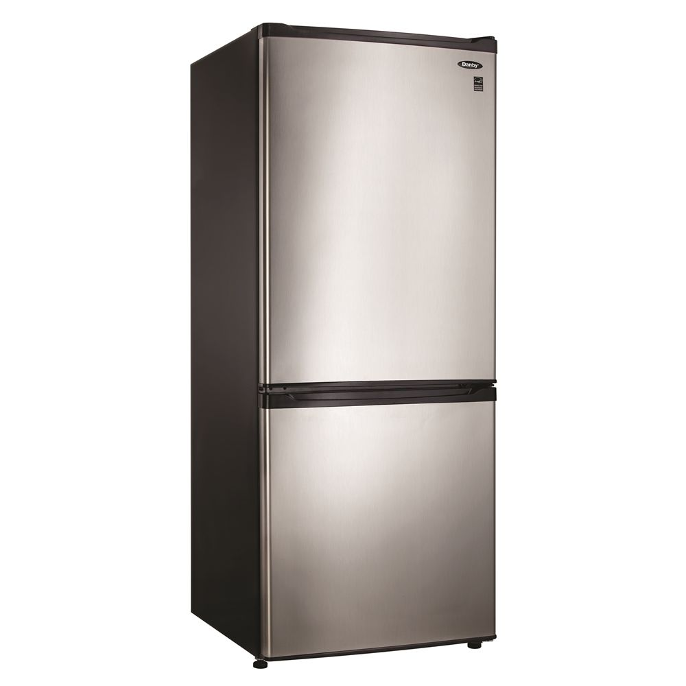 Danby® Bottom Mount Refrigerator, 9.2 Cu Ft, Energy Star Rated, Spotless Steel with Black Body
