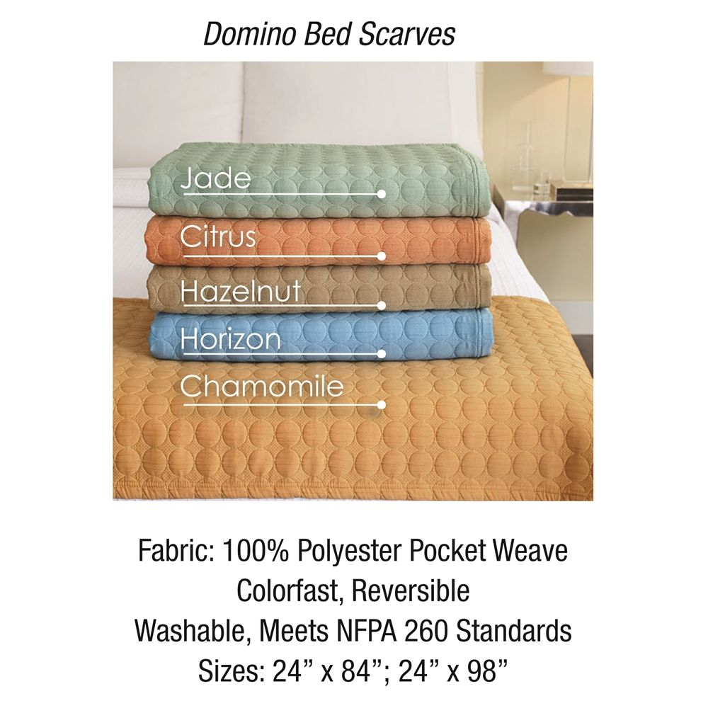 Domino Bedscarf, 24x98 King - Jade
