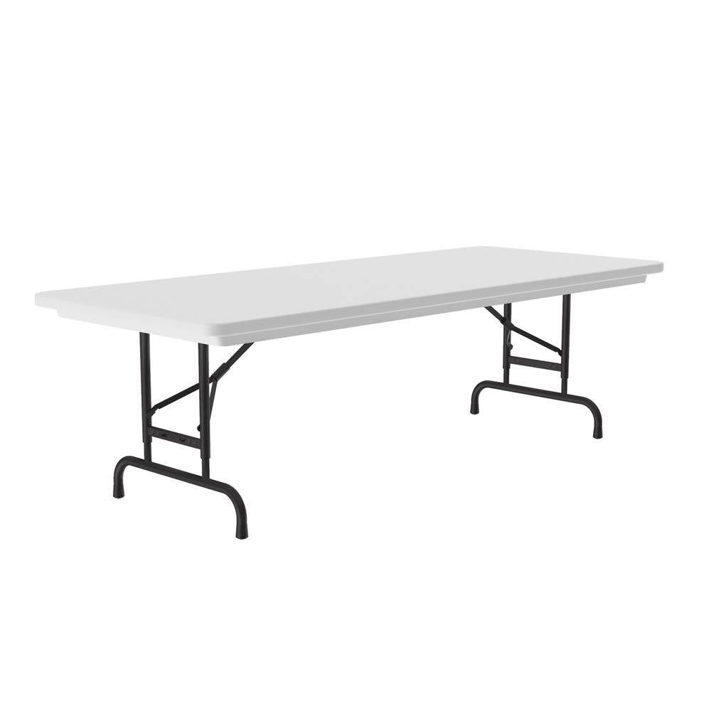 Correll, Inc® Anti-Fatigue Table 30x72x22-32H Adjustable Height Blow-Molded Plastic Gray Granite