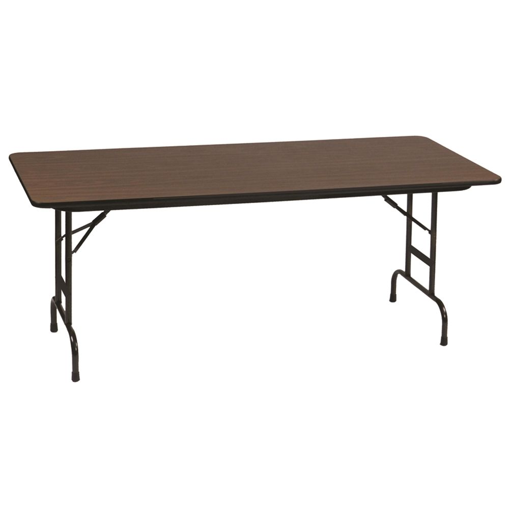 Correll, Inc® Anti-Fatigue Table 36x72x22-32H Adjustable Height High-Pressure Laminate Top, Walnut