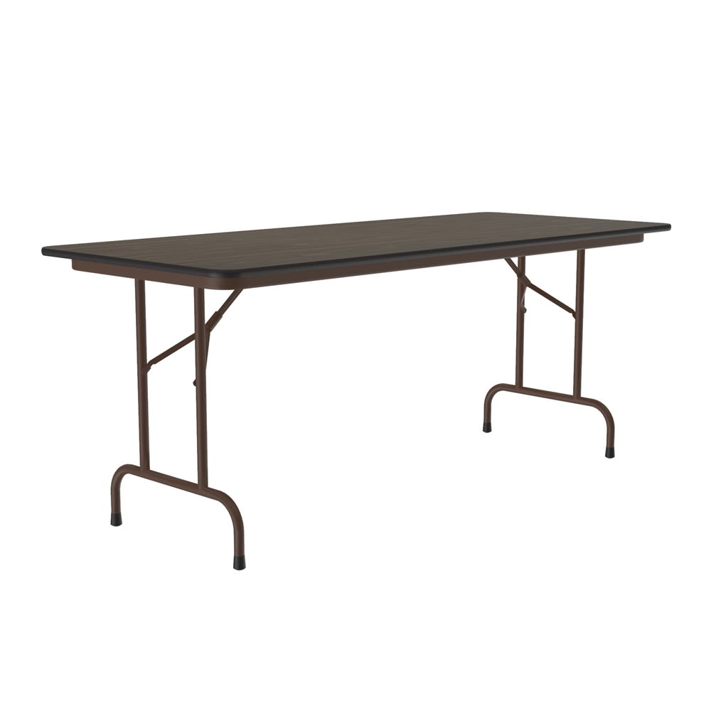 Correll, Inc® Anti-Fatigue Table 30x96x22-32H Adjustable Height High-Pressure Laminate Top, Walnut