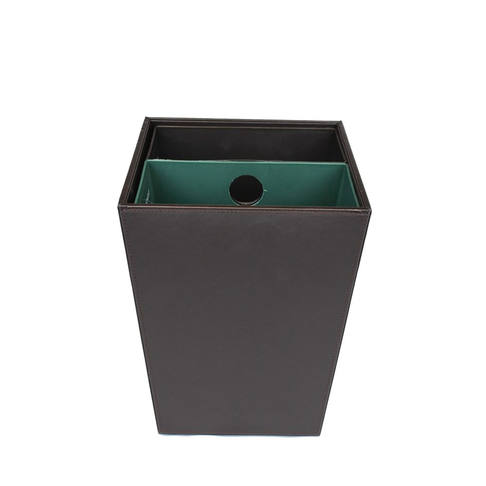 14.5 Quart Dual Chamber Recycle/Wastebasket, Brown