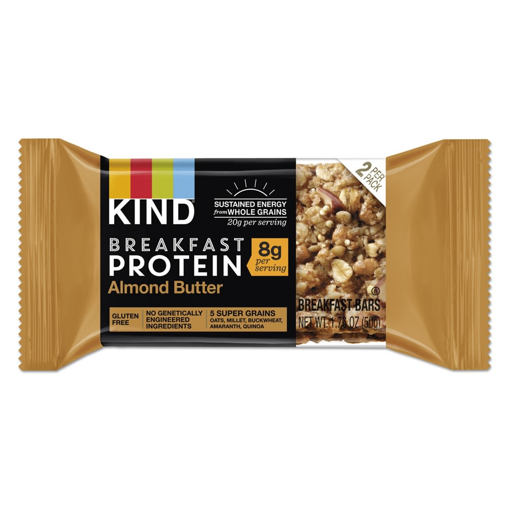 KIND Almond Butter Breakfast Protein Bars, 50 g Box, 8/Pack