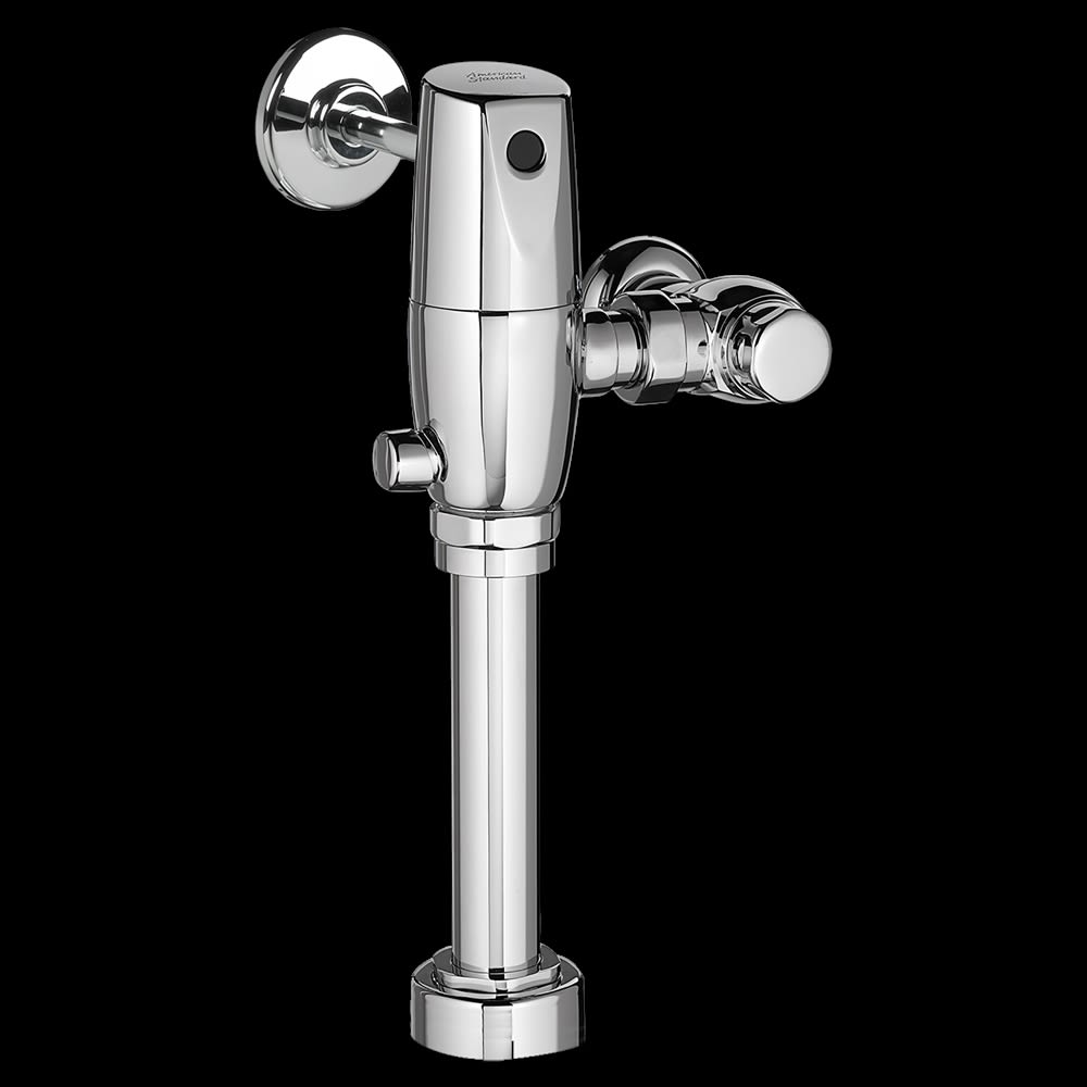 American Standard Selectronic® 1.28 gpf Sensor Flush Valve Hardwired in Polished Chrome