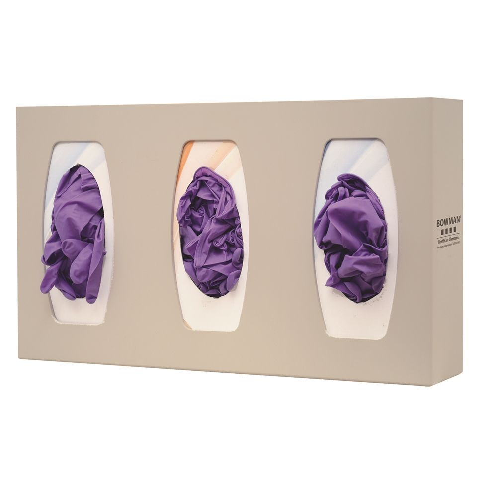 Bowman® Glove Box Dispenser, Triple with Dividers