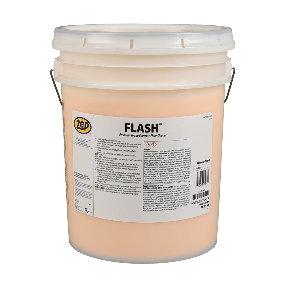 Flash Premium Grade Concrete Floor Cleaner, 40 lbs.