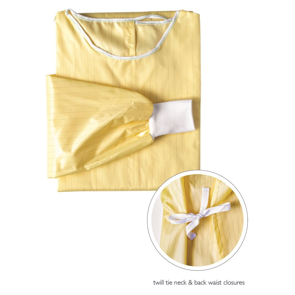 Non-Surgical Reusable Iso Gown, AAMI Level 1 Next Gen, 105gsm, Non-PFAS water proof treated, Yellow