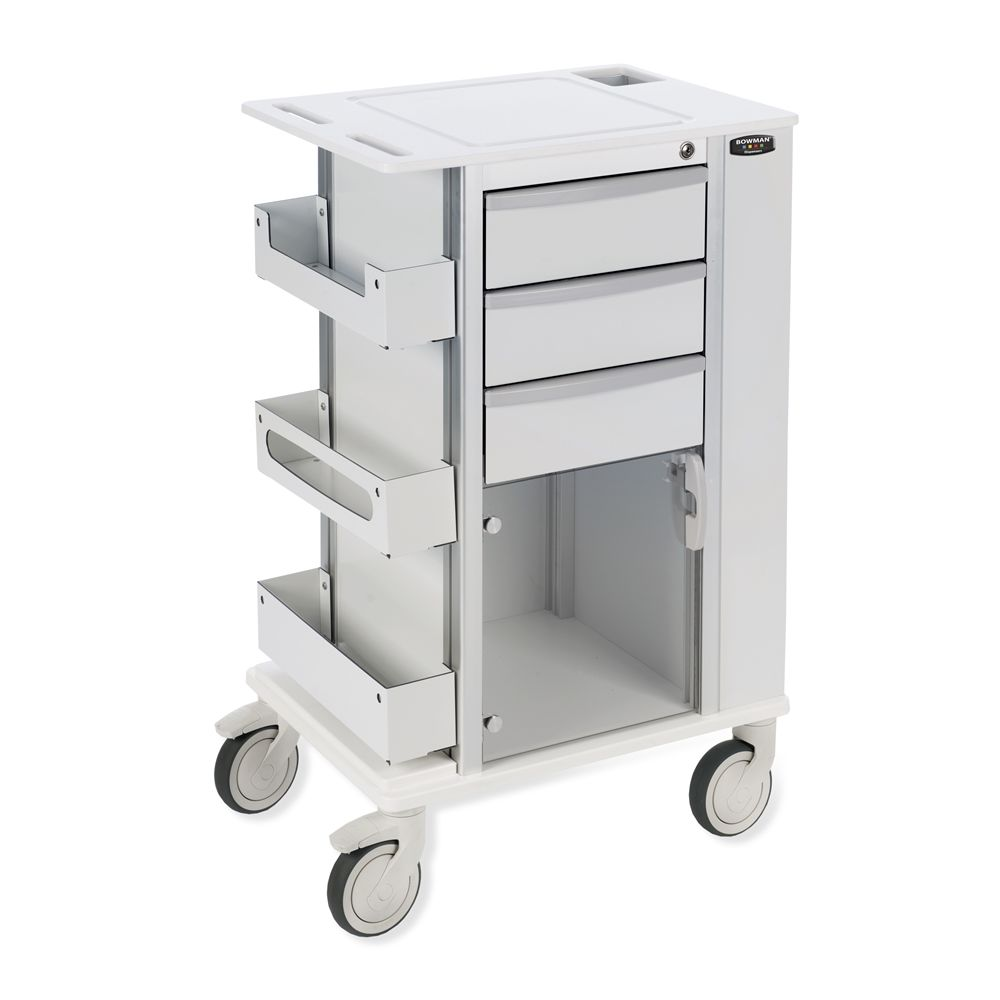 Bowman® Rolling Storage Cart with 5 Inch Casters, White