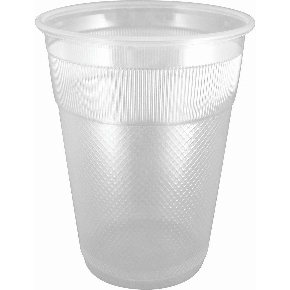 Cold Cup 9oz, Plastic Translucent, Unwrapped