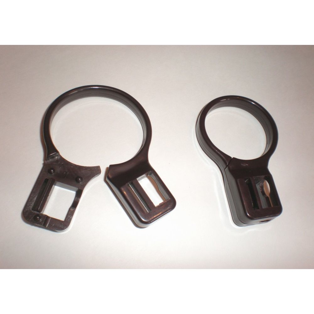 Anti-Theft, 2-Piece Plastic Ring, Brown