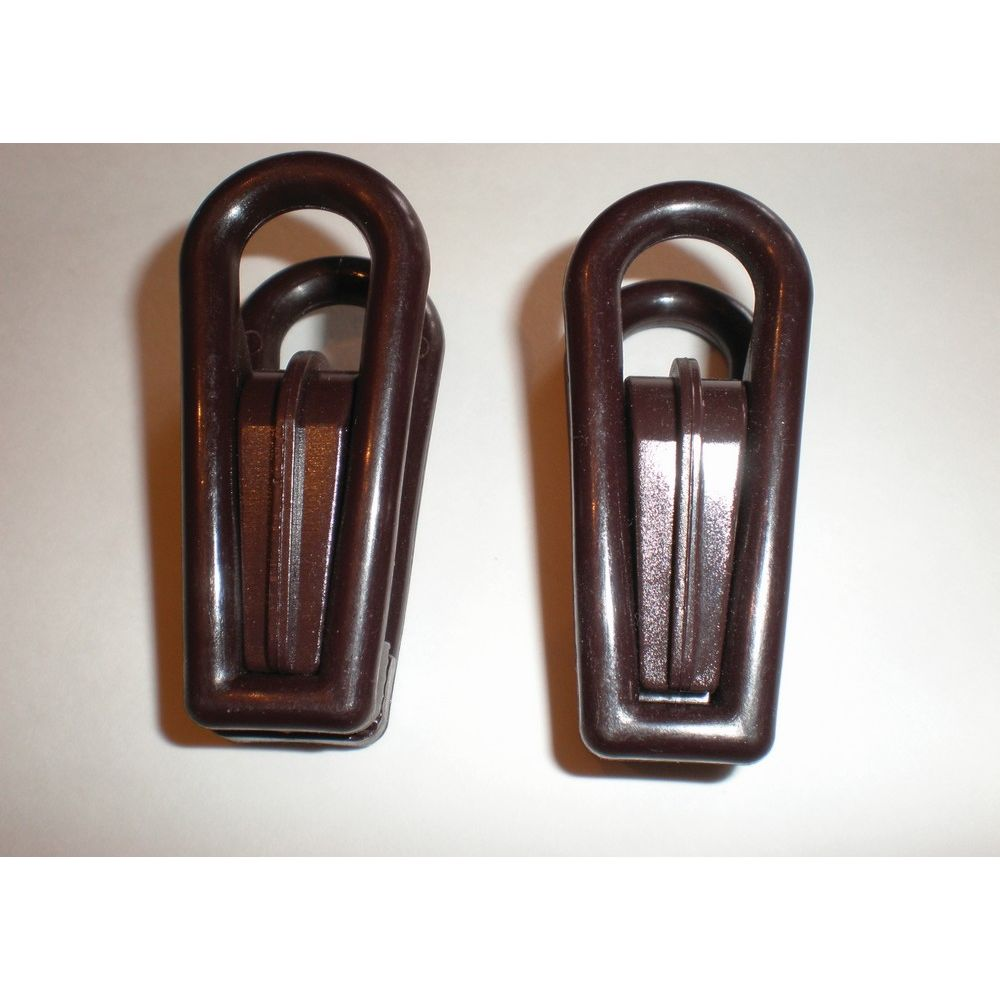Plastic Hanger Replacement Clips, Brown