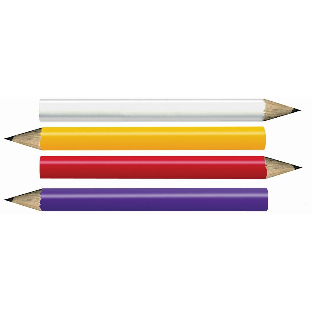 Golf Pencil, Non-Logo, White