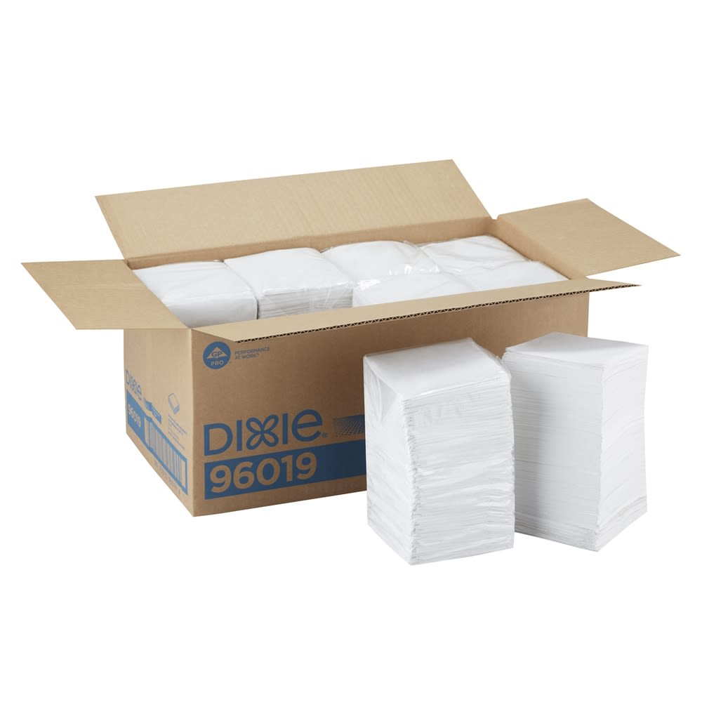 Dixie 1/4-Fold 1-Ply Beverage Napkin by GP PRO, White, 500 Napkins Per Pack
