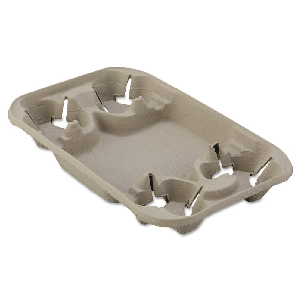 StrongHolder Molded Fiber Cup/Food Tray, Holds 4 Cups, Size 8-22oz