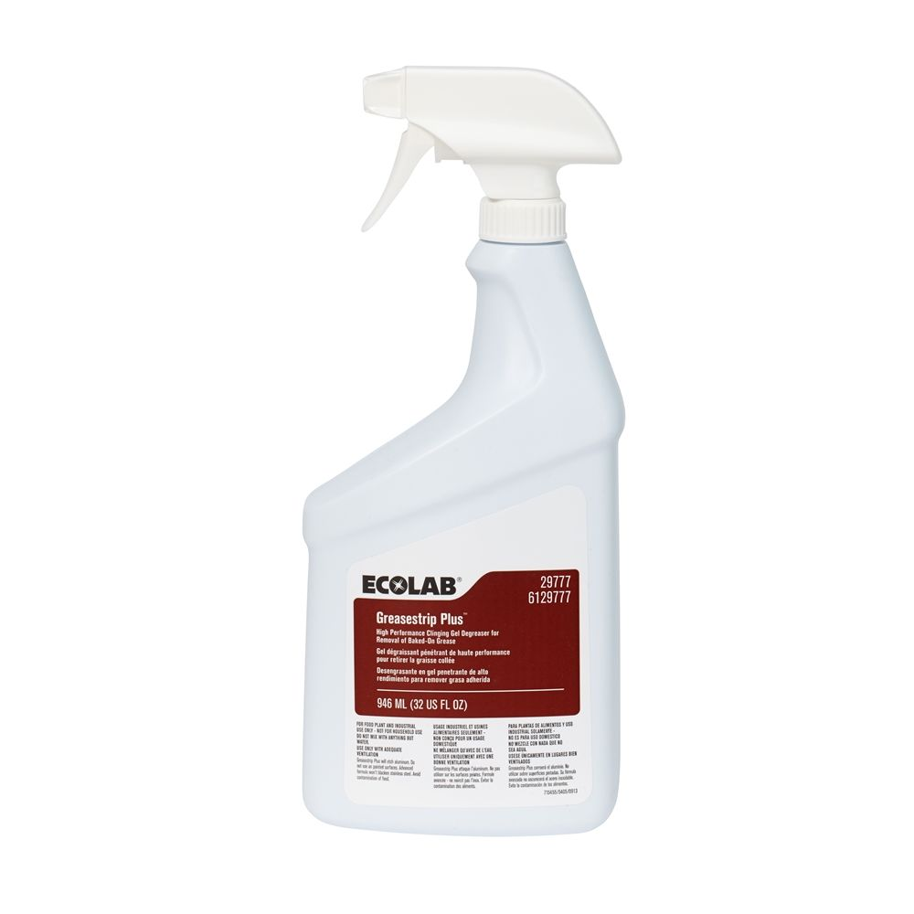 Ecolab® Greasestrip Plus Clinging Gel Degreaser 32oz #00029777