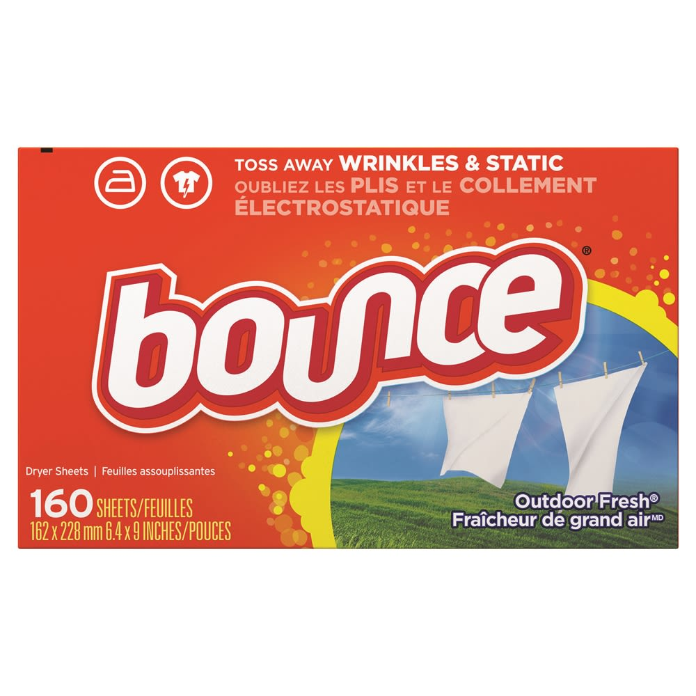 Bounce® Fabric Softener Dryer Sheets 160 Per Box