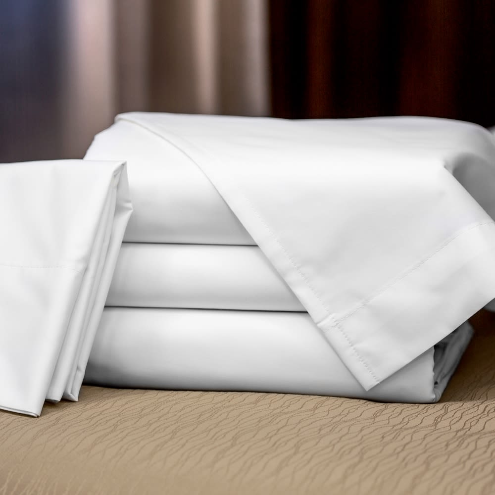 Connoisseur T300 Blend Mercerized Matt Weave, Hotel King Deep Pocket Fitted Sheet 72x80x12,White