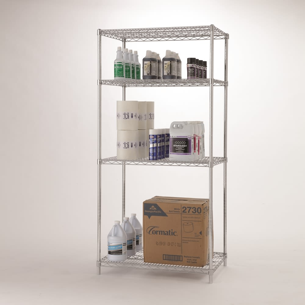 Focus Chromate 4-Shelf Kit, 18x48x74