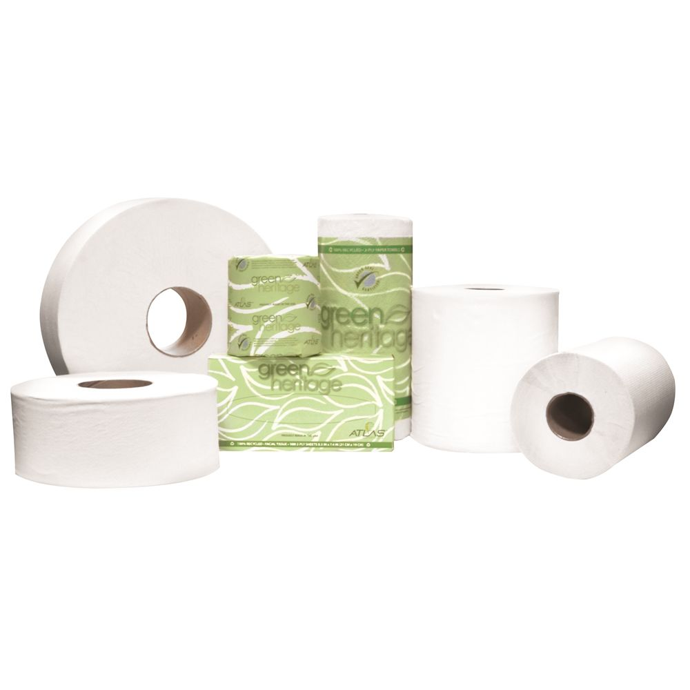 Green Heritage® 2-Ply Toilet Paper, 500 Sheets, White