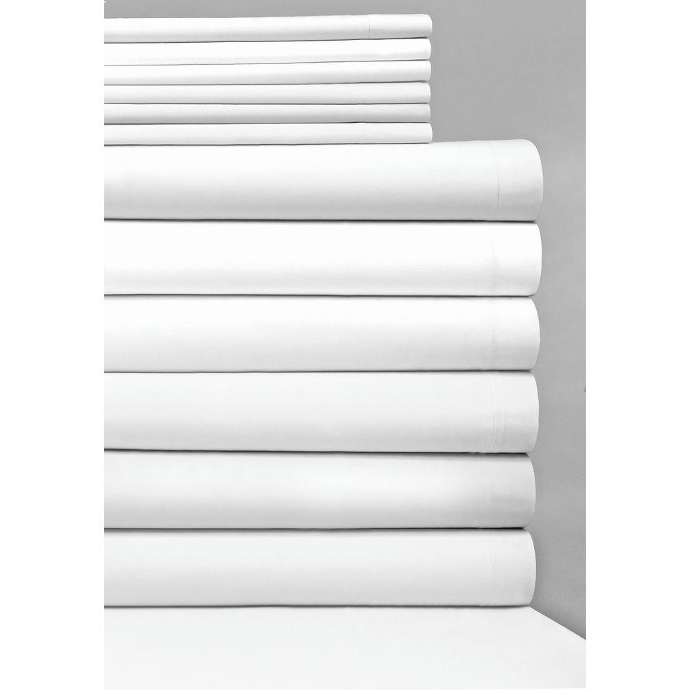 Connoisseur T300 Blend Plain Weave, Queen Fitted Sheet, 60x80x10.5, White