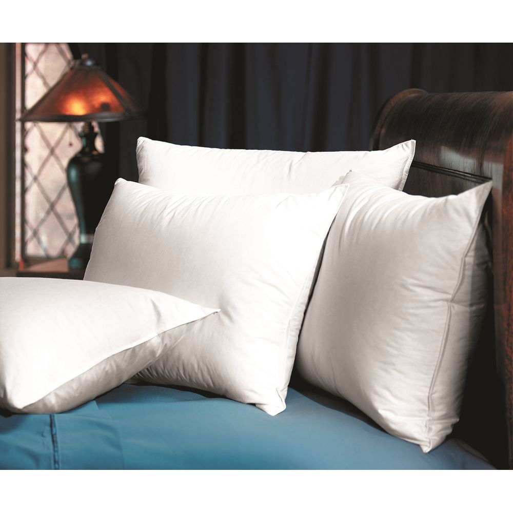 Comfort Down Pillow, Poly/Feather/Down Fill , T230 Cotton Cover, Standard 20x26, 32 oz, White