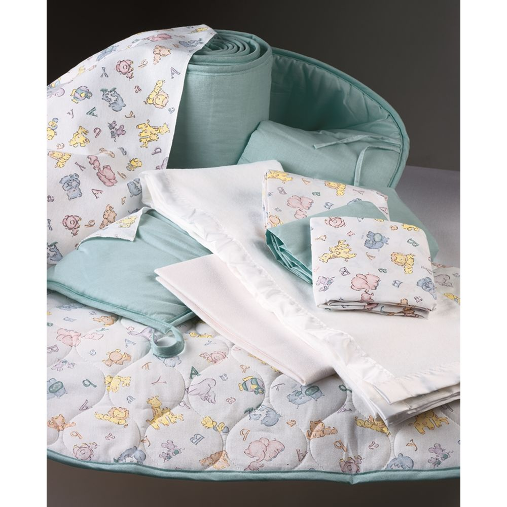 "Crib Sheet Fitted 24"" x 38"" Aqua / Riegel Textiles"