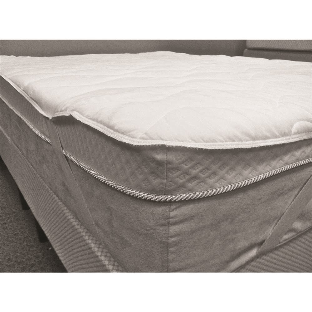 Contract Elite® Quilted Mattress Pad, Hotel King 72x80, Anchor Bands, 4 oz. White