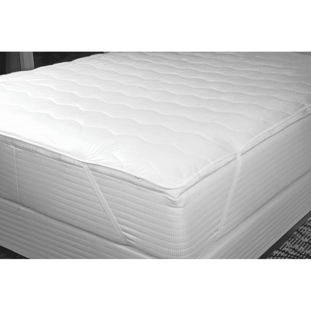 Contract Soft® Quilted Mattress Pad, Twin 39x76, Fitted Skirt, 3 oz. White