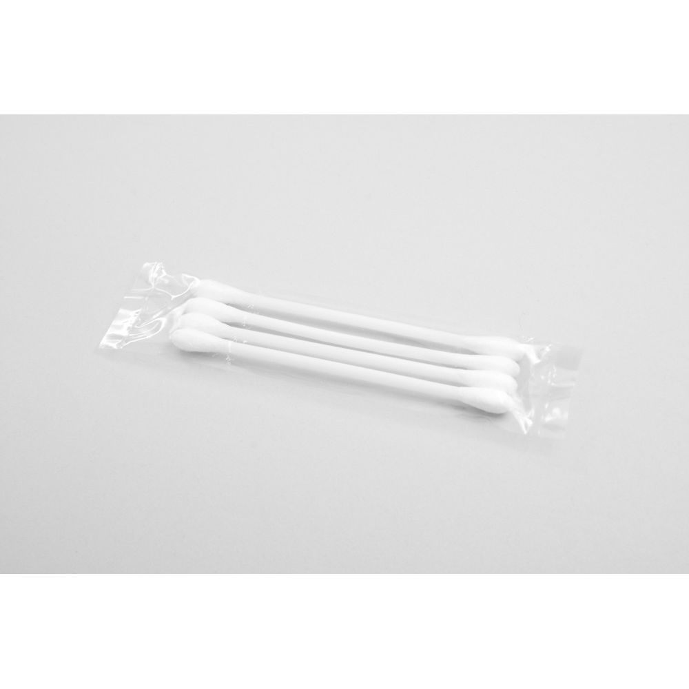 Cotton Ear Swabs, 4in Poly Bag