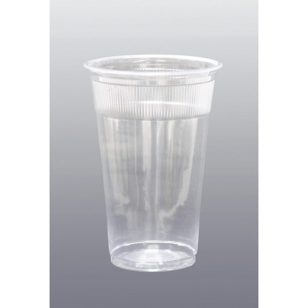 Cold Cup 10oz, Plastic Transparent, Wrapped