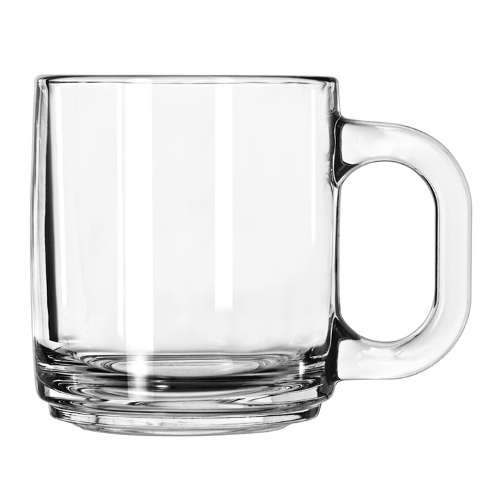 Coffee Mug 10 oz, Clear Glass
