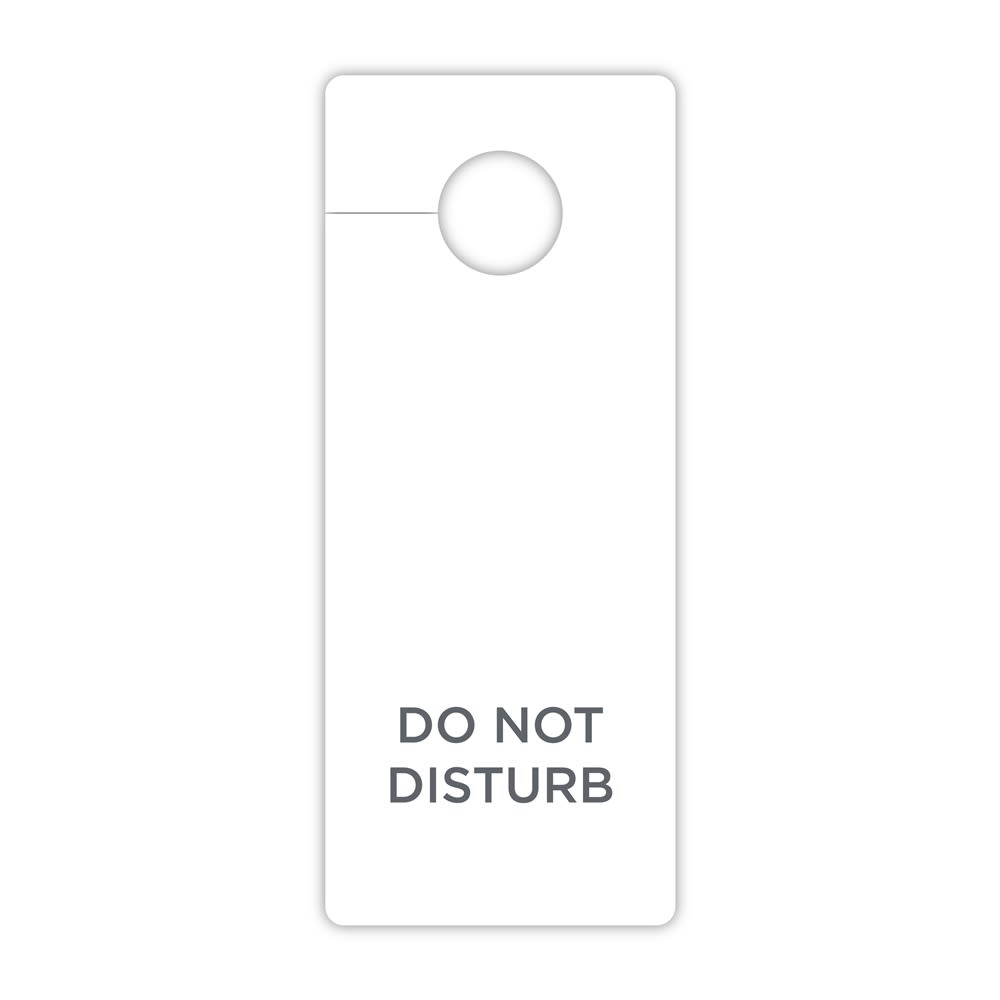 Multilingual Do Not Disturb Door Hanging Sign in English, French, German, Spanish and Chinese