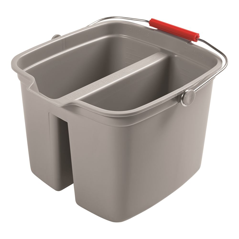 Rubbermaid® 17 Quart Double Pail with Handle, Gray